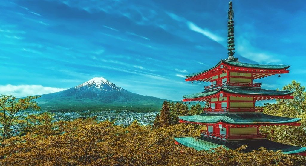 japan, pagoda, fuji